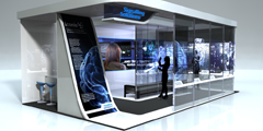Signalling Solutions Minority-Report Style Exhibition Stand Concept