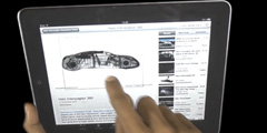 Microsite for Future Cars Project (University of Oxford) displayed on tablet