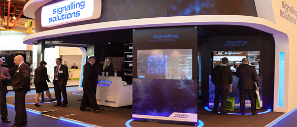Signalling Solutions 'Minority Report' experience exhibition stand using interactive touchscreen technology