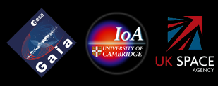 GAIA, IOA and UK Space Agency Logos