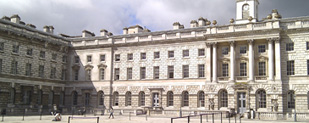 Rendered 3d model of exterior of Somerset House